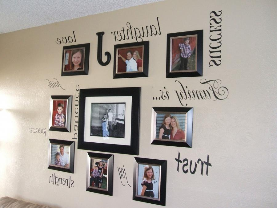 ... awesome ideas of hanging family photo with chic words and...