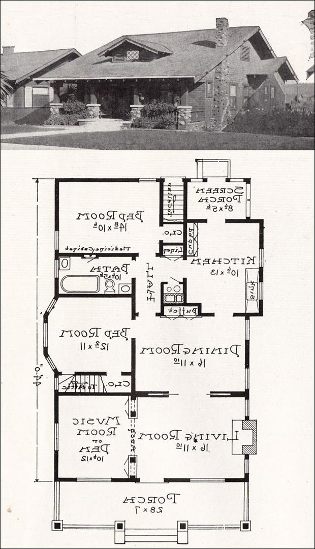 Craftsman bungalow house plans with photos for California bungalow house plans