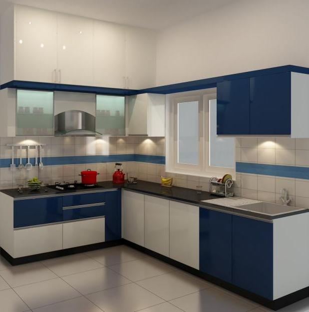 Photos of modular kitchen designs for Small kitchen design indian style