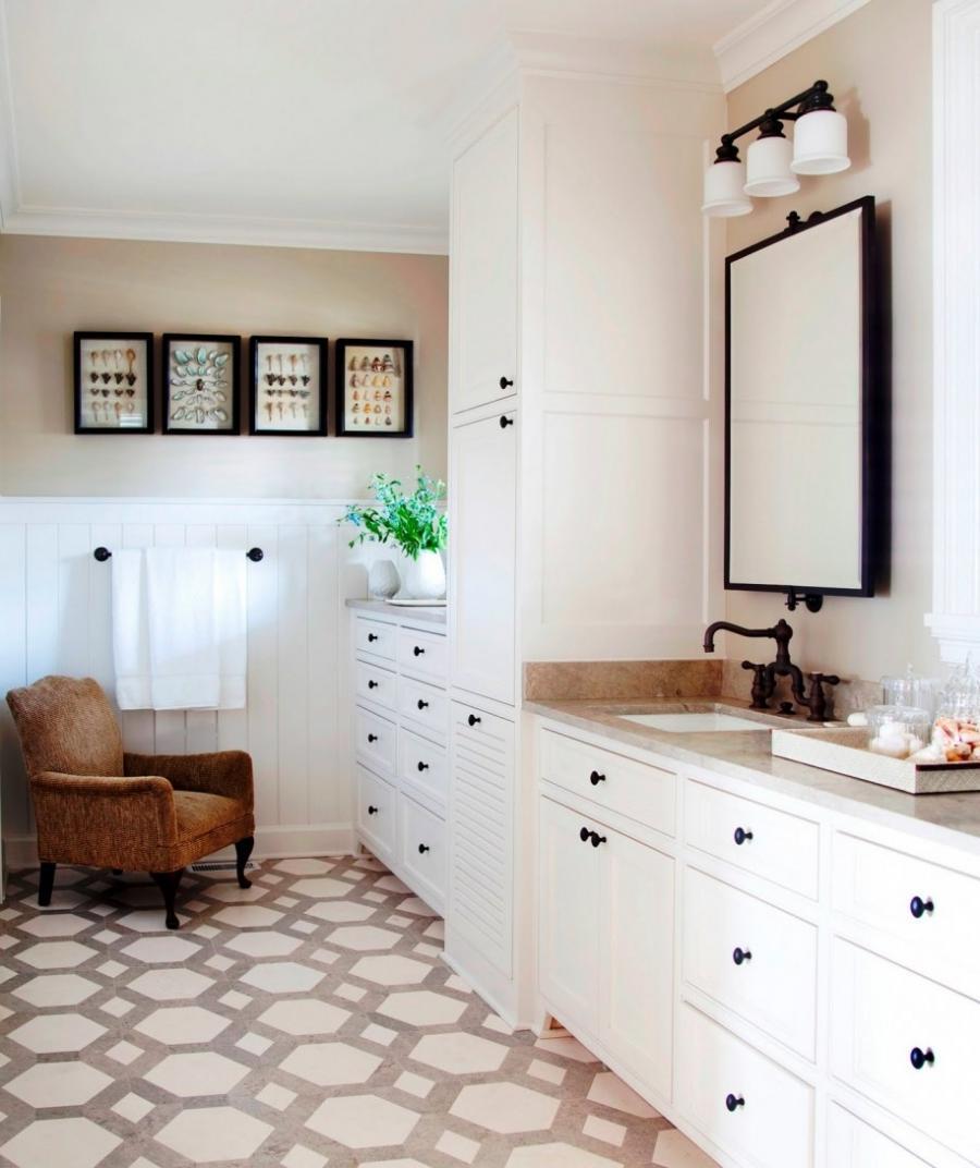 Octagon Floor Tiles Bathroom