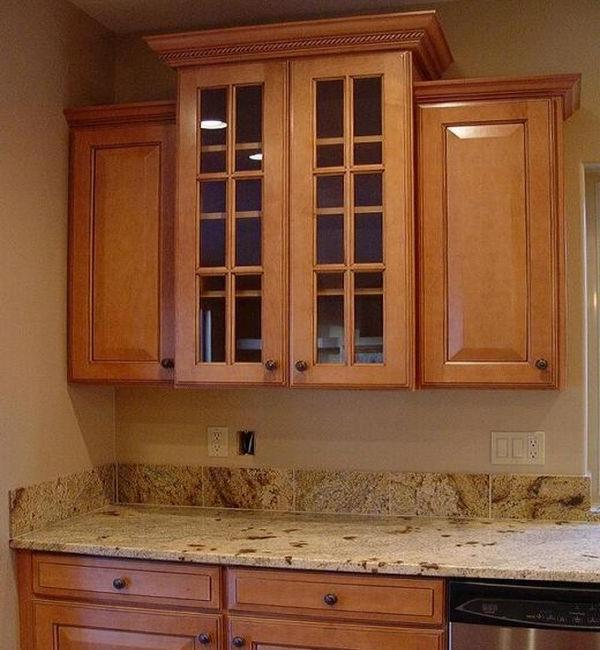 Cabinet crown kitchen molding photo for Kitchen cabinets crown molding installation instructions