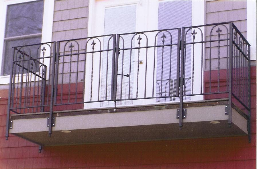 A balcony railing with a wrought iron look. This balcony rail has...
