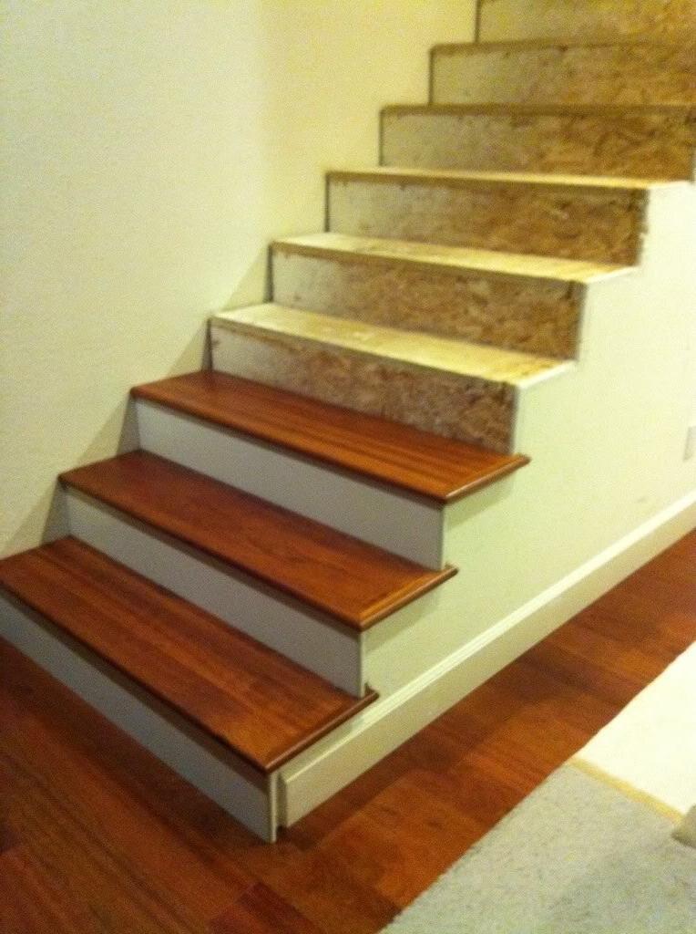 Installing Wood Floors >> Stair skirt boards photos