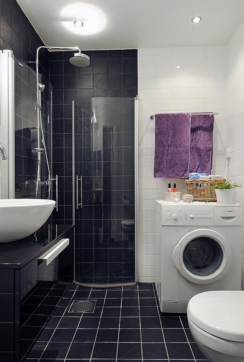Ванные комнаты дизайн с черной душевой кабиной