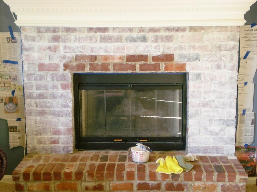 photos of homes with white washing brick