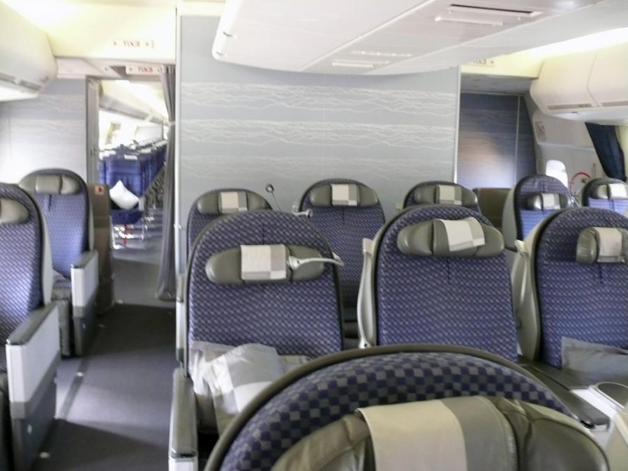 Delta 747 interior photos