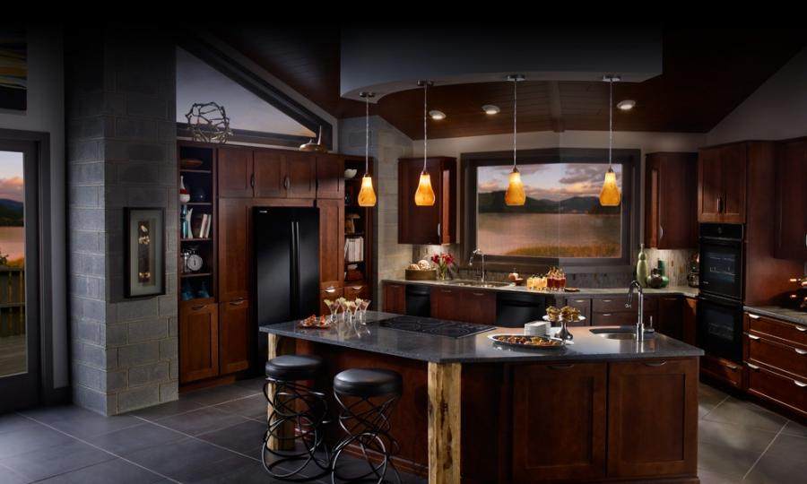 Photos of kitchens with black appliances for Most popular kitchen appliance color