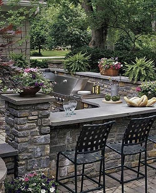 Stone outdoor kitchen photos for Outdoor kitchen designs nj