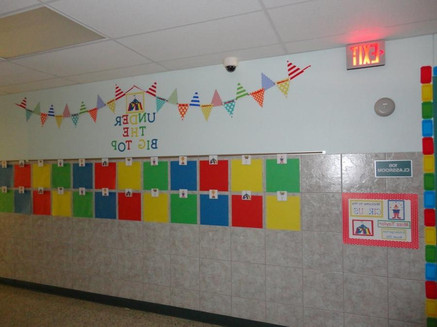 Here are my hallway displays: