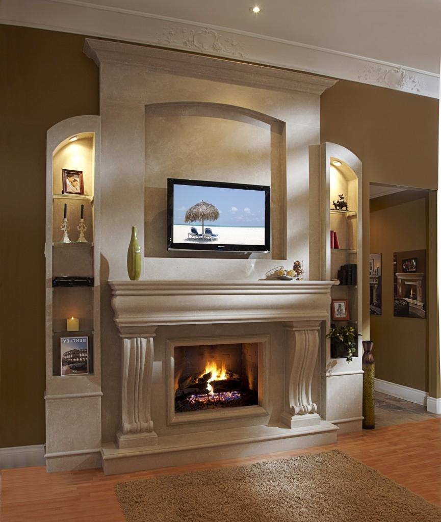 Contemporary fireplace mantel design photos for Contemporary mantel