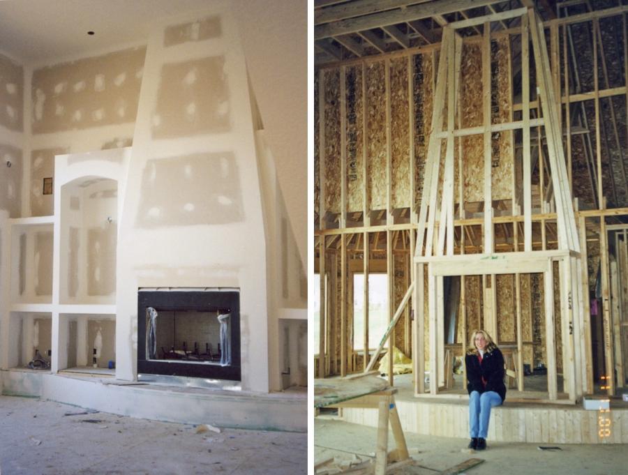 Stucco Fireplace Photos