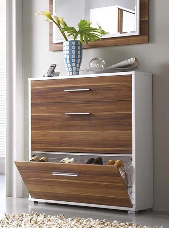 63 Clever Hallway Storage Ideas With White Wall Wooden Storage...