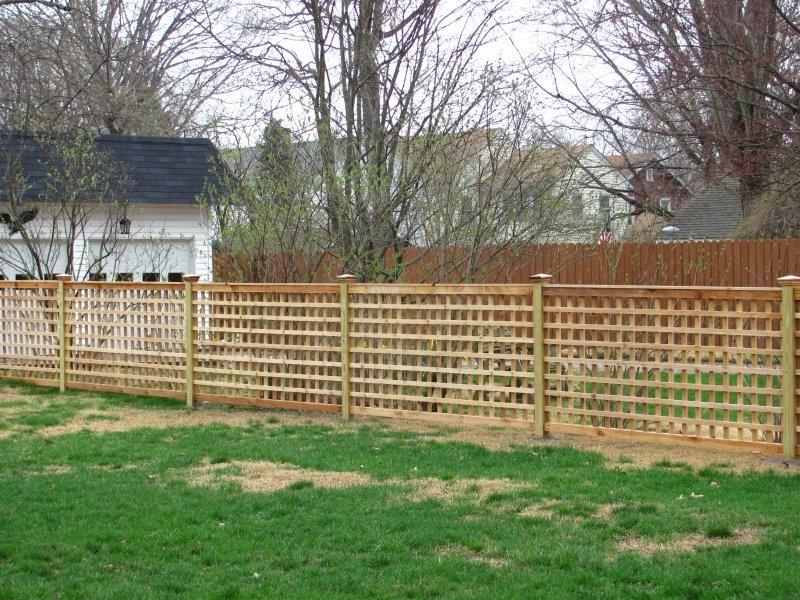 Framed Lattice Fences are available in a variety of heights and...