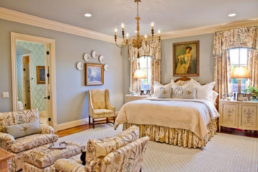 Finely chosen antique items can have an authentic French bedroom...