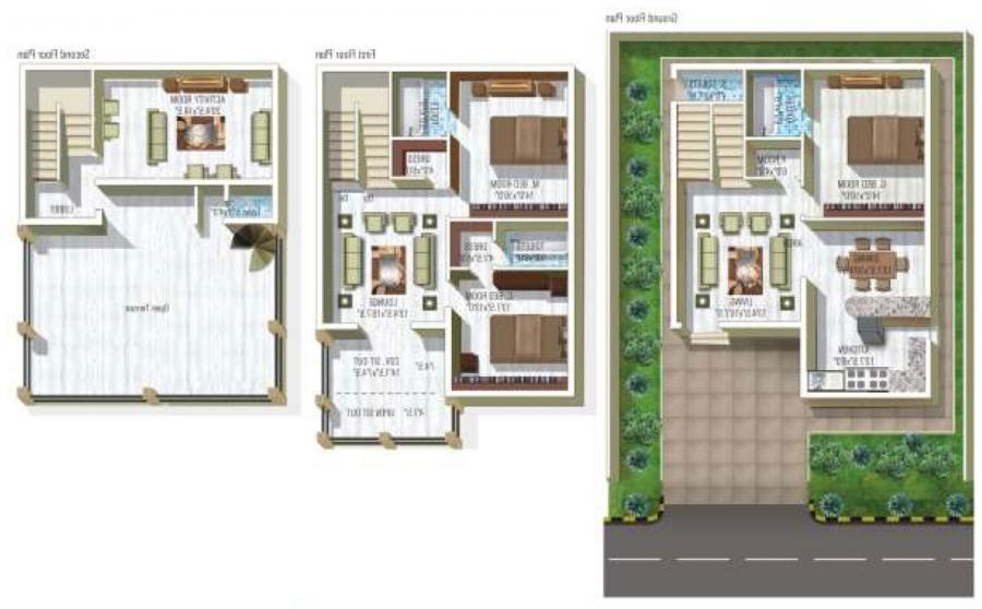 Duplex house plans elevation photos indian style Duplex house plans indian style