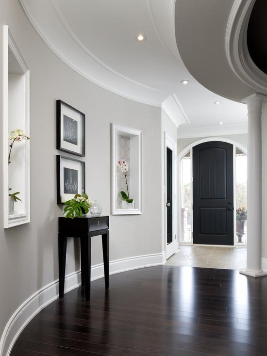 Hallway » Transitional Hall Hallway Designs With Light Gray Wall...
