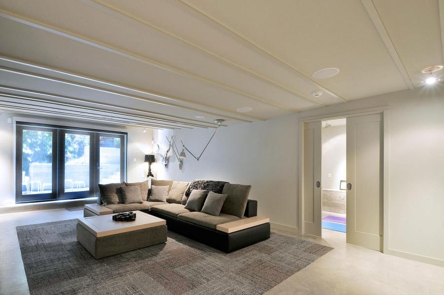 Bonnell House Family Room with Modern Ceiling Lamp from...