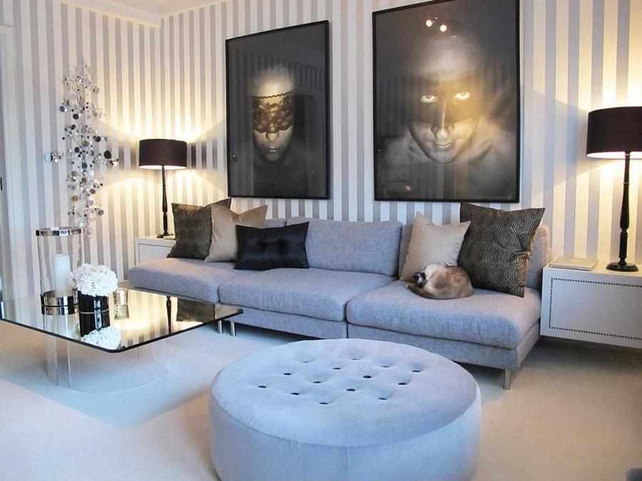 ... Living Room Decorating Ideas with photography art Elegant...
