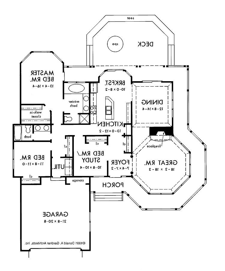 1 floor house plans with photos for One story queen anne