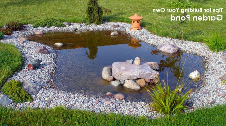 Photos of how to build a garden pond for Build your own garden pond