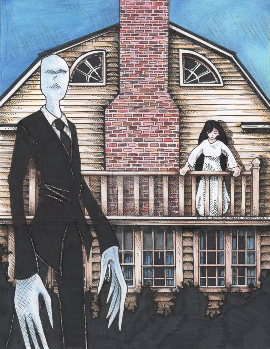 Slenderman, Ring Girl, Amityville House Commissionby DragonPress