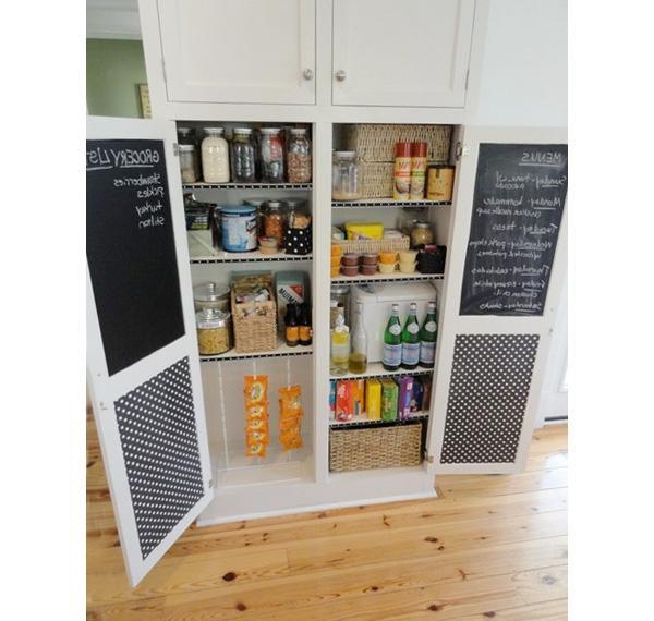 Walk in kitchen pantry photos for Minimalist pantry design