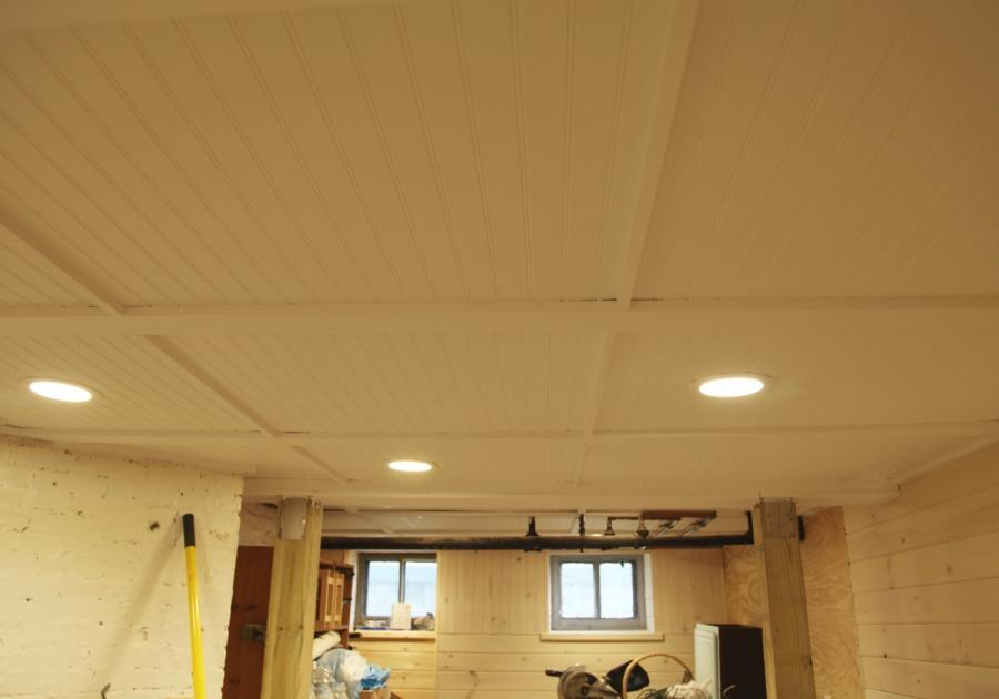 Our Basement Part 38: The Beadboard Ceiling is White  The Work...