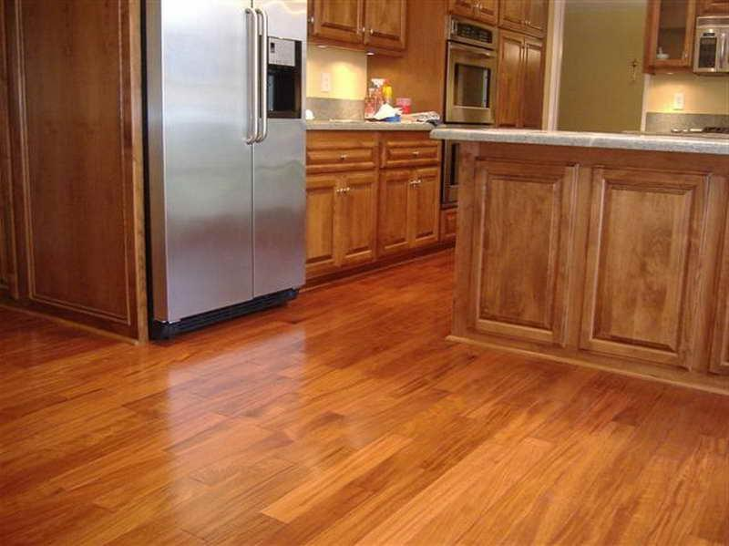 Kitchen floor laminate tiles