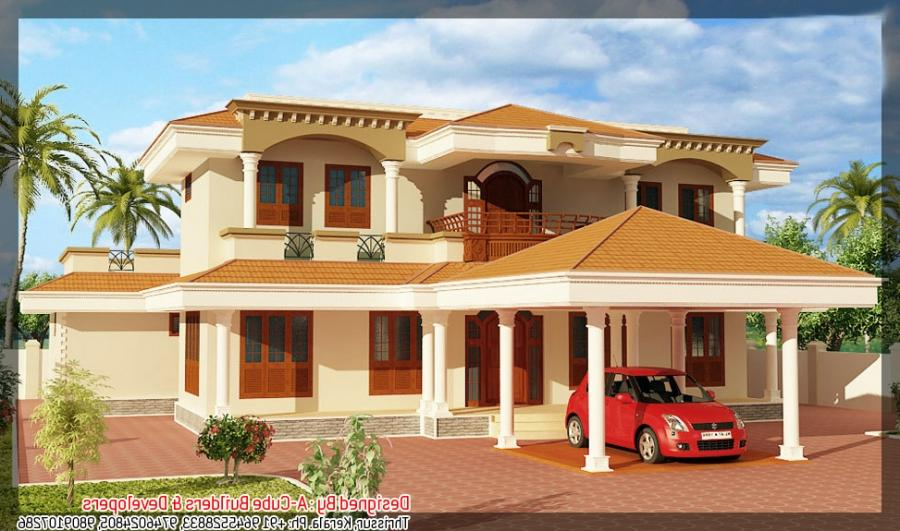 Latest Kerala home plan at 2400 sq.ft