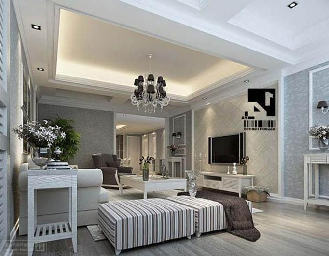 luxury living room interior decorating