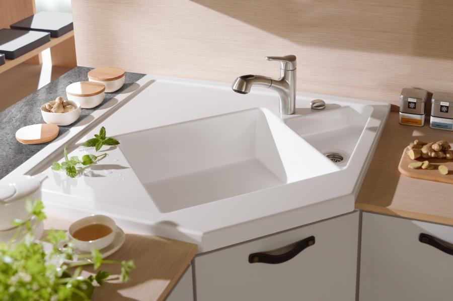 Photos corner kitchen sinks - Space saving sinks kitchen ...