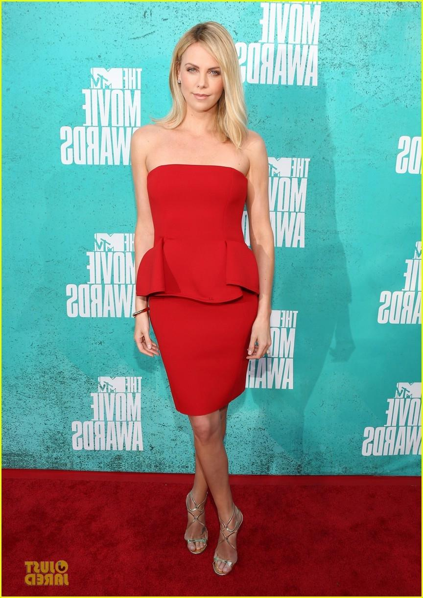 4. Charlize Theron in Lanvin dress and Jimmy Choo sandals. A real...