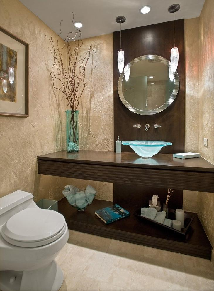Comely Ornament For Elegance Small Bathroom Decorating Ideas