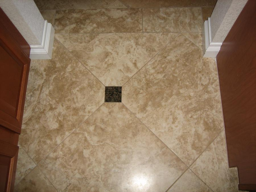 Enchanting Beige Porcelain Floor With One Tile And Large Format...