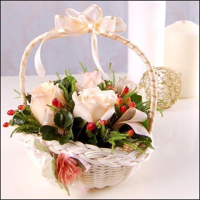 Flower Baskets Decoration : New flower decoration photo