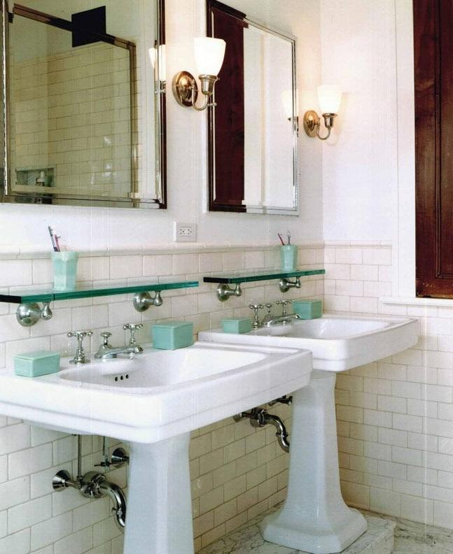 Subway Tiles Topped With Round Cap Molding Forge A Crisp Looking