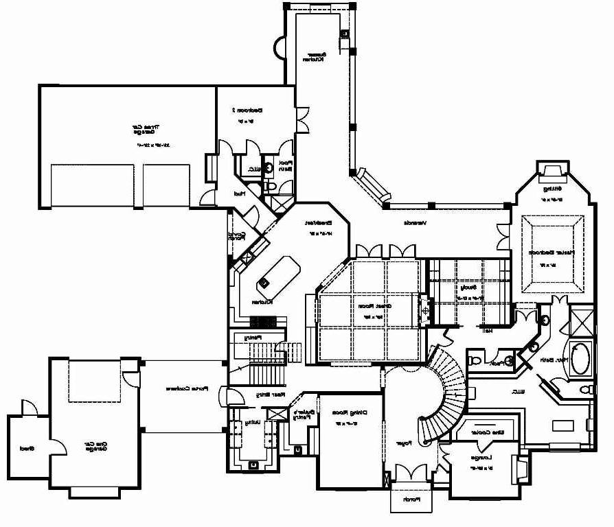 Porte cochere house plans with interior photos for Porte cochere home plans