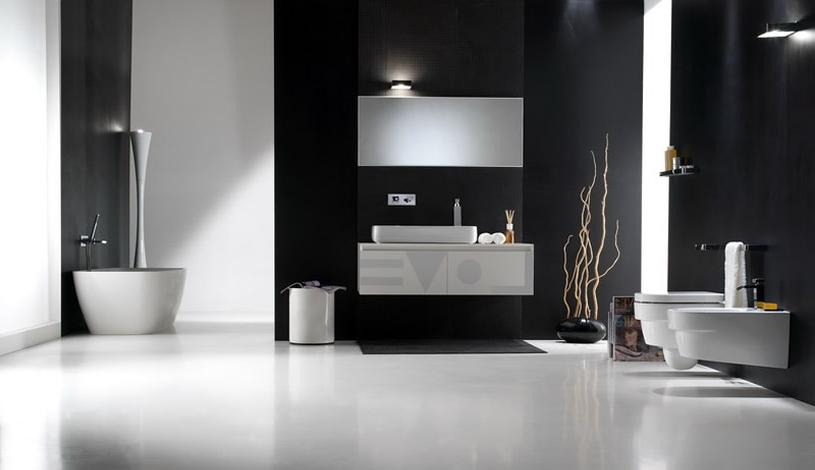 Modern-bathroom-decoration-in-black-and-white