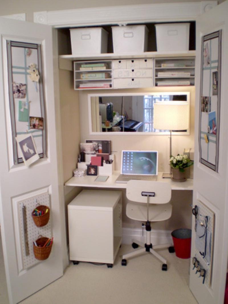 Дизайн шкафов и рабочее место.