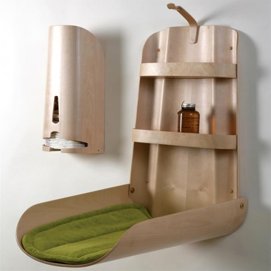 Wall Mounted Furniture Design of Birch Nathi Changing Table by Bo...