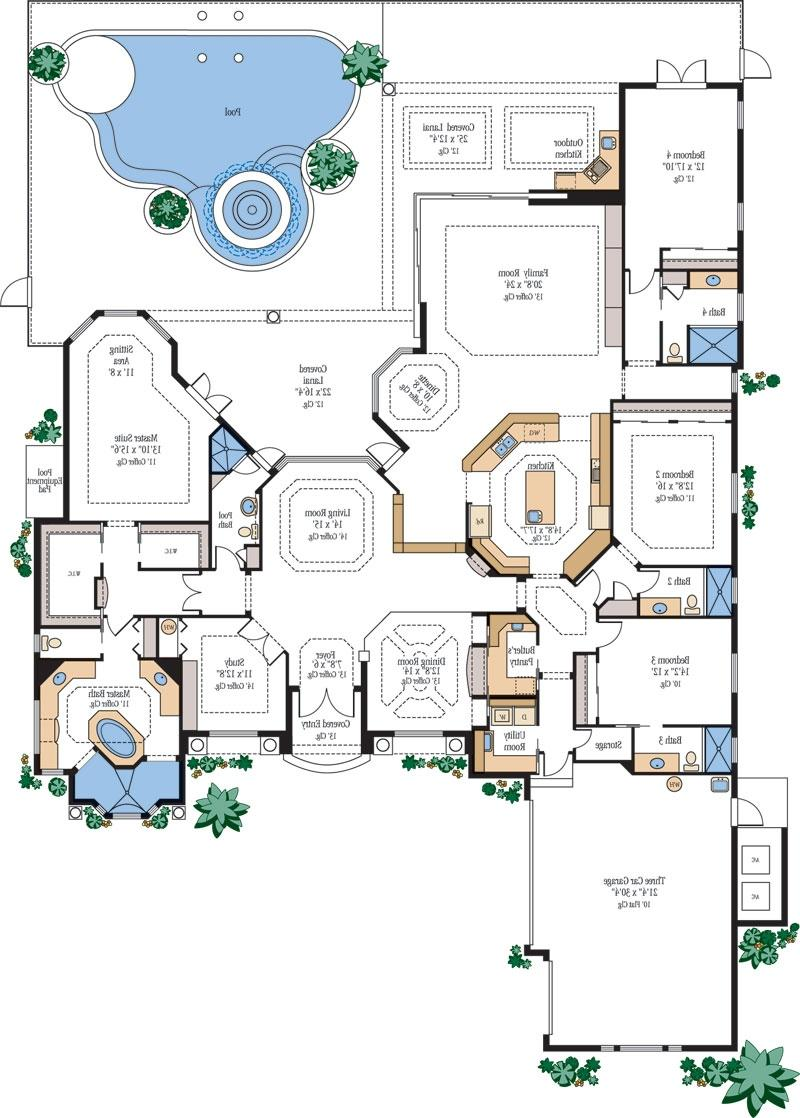 Floor plans new homes photos for Mansion house plans with elevators