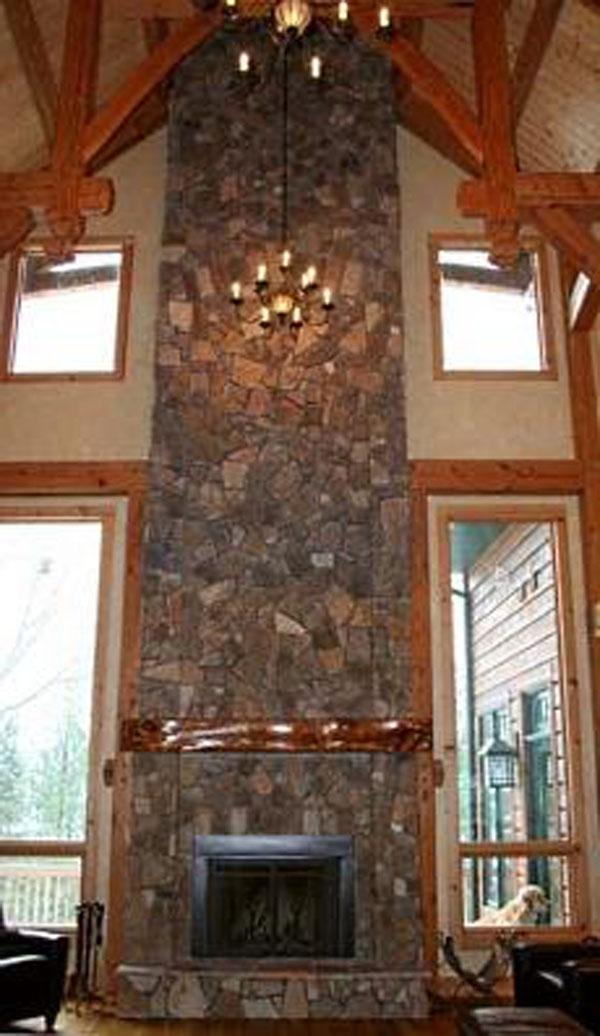 Rustic fireplace photos - Large contemporary stone fireplace ...