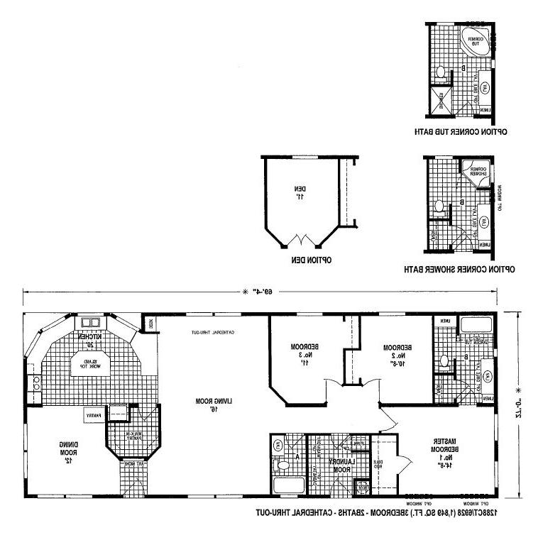 Clayton mobile home floor plans photos for Wide house floor plans