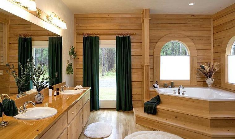 Log Home Bathroom Photos