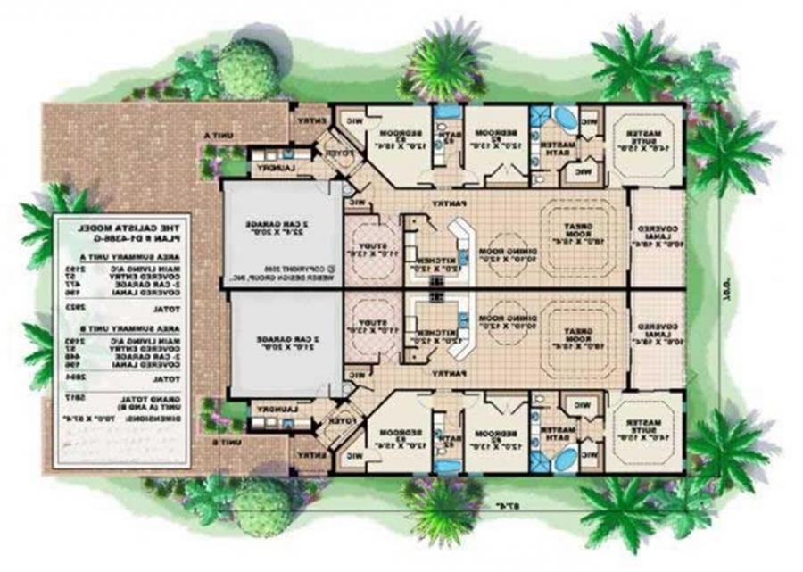 Mediterranean Duplex House Plans 28 Images