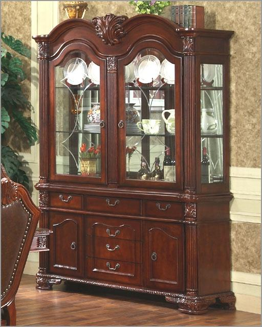 $1,318 CHINA CABINET IN CLASSIC CHERRY MCFD5006 China cabinet in...