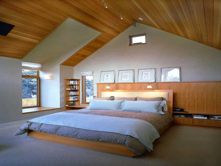 Hotel Interior : Bedroom Popular Contemporary Attic Bedroom With...