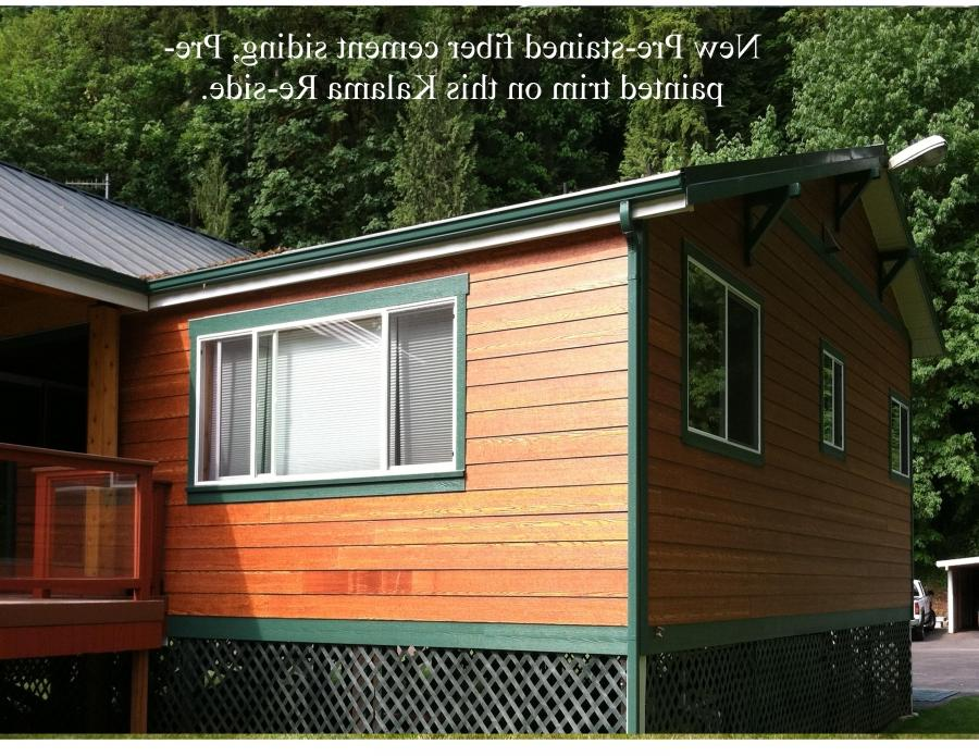 Photo cement siding finishes for Stained fiber cement siding