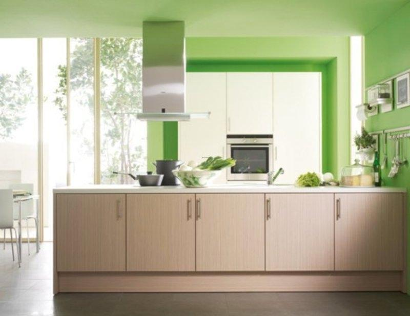 Photos of green colored kitchens Kitchen design in green colour