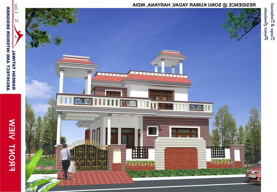 North indian house designs photos for Indian house plans designs picture gallery